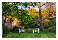Garden Fence (Timothy Valentine) Tags: 0519 large latelight friday 2019 fence eastbridgewater massachusetts unitedstatesofamerica