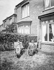 VINTAGE GLASS NEGATIVE 119 (Nigel Bewley) Tags: garden relaxing deckchair england uk soldier leave glassnegative negative largeformat vintagephotograph bygonedays oldphotograph oldphoto oldpicture blackandwhite wwi worldwari worldwar1 firstworldwar greatwar 19141918 kodakmoment familyhistoryroadshow europeana19141918 ww1 1stworldwar unlimitedphotos nigelbewley appicoftheweek