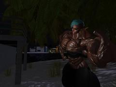 Pump vampire elf (Jaylin Powers) Tags: firestorm secondlife babe elf sexy vampire muscle fbb bodybuilding