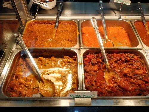 Veg curries - Tejas Indian Restaurant, Melbourne - dhal, mutter paneer, veg jalfreezi