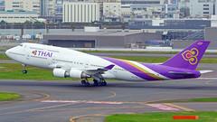 Boeing 747-4D7, HS-TGZ, Thai Airways International (tkosada.mac) Tags: thaiairwaysinternational staralliance boeing b744 tokyointernationalairport hanedaairport hnd rjtt