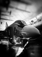 Gleaming phantom … (marc.barrot) Tags: bedevilers shotoniphone monochrome aircraft iwmduxford uk cb22 cambridge duxford duxfordaerodrome americanairmuseum cvw8 ussamerica usnavy vf74 155529 phantomii f4j mcdonnelldouglas