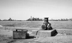 Sunset Park (neilsonabeel) Tags: contaxrts contax zeiss yashica blackandwhite brooklyn newyorkcity pier sunsetpark manhattan