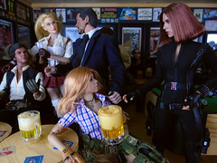A Busy Night In the 'Arms' (2) (Blondeactionman) Tags: ammoarms bamhq playscale phicen hottoys blackwidow tony stark damtoys zona han solo star wars lola onesixth onesixthscale diorama dollphotography marvel