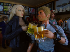 A Busy Night In the 'Arms' (15) (Blondeactionman) Tags: ammoarms actionman bamhq jake jenna phicen playscale diorama dollphotography pub onesixth onesixthscale