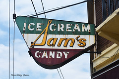 Sam's Ice Cream & Candy   Covington KY (kyfireenginephoto) Tags: neon sam ky ice pike park hills cream ludlow building urban ollie latonia bromley candy store brick sign kentucky sams street russell downtown newport food counter quehl