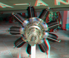 Flugausstellung Flugmotore Hermeskeil 3D (wim hoppenbrouwers) Tags: anaglyph stereo redcyan flugausstellung flugmotore hermeskeil 3d engine motor vliegtuig aviationmuseum airplane aircraftengine