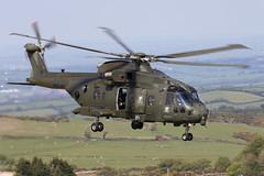 ZJ135_EH101MerlinMk3_RoyalNavyCHF_TenTors_Img02 (Tony Osborne - Rotorfocus) Tags: leonardo agustawestland aw101 eh101 merlin royal navy fleet air arm commando helicopter force chf okehampton ten tors 2019