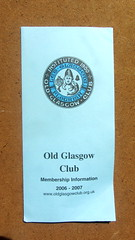 Old Glasgow Club Membership Information Leaflet 2006 - 2007 An Association Formed In 1900 For All Interested In Old Glasgow - 1 Of 4 (Kelvin64) Tags: old glasgow club membership information leaflet 2006 2007 an association formed in 1900 for all interested