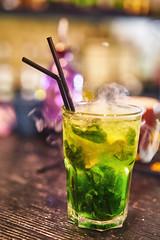 Cocktail in Vidma Bar (Phoenix Konstantin) Tags: sonya7rii sonyilce7rm2 coctail color bokeh zeiss zeisssonnartfe55mmf18za fullframe green smoking kyiv vidmabar