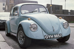 Classic VW Beetle (Howie Mudge LRPS BPE1*) Tags: vwbeetle classic car vintage blue nikon nikonf80 kodakportra160 analog analogphotography 35mm 35mmfilmphotography 35mmfilm film filmphotography filmisnotdead filmisalive filmcamera filmrevival ishootfilm believeinfilm buyfilmnotmexapixels staybrokeshootfilm