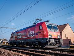 HSL Logistik 186 382 tijdens een test rit @ Kermt (Hasselt) (Avinash Chotkan) Tags: hsl logistik traxx br186 akiem belgium trains locomotive railroad 186382