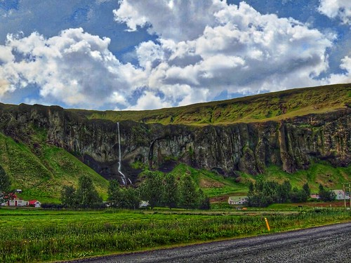 Suðurland, Iceland's southern region - Tall Narrow Waterfalls  - Highway 1 Ring Road