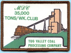 Tug Valley Coal Processing Company patch (Coalminer5) Tags: coalmining coalminer coalmemorabilia coalcollectibles coal mining miningmemorabilia miningcollectible miningartifacts miner sewonpatch patch train coalcars railroad
