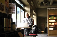 man at work (muffett68 ☺ heidi ☺) Tags: people work laptop starbucks