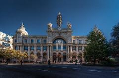 Valencia (auredeso) Tags: edificiodecorreosytelegrafos poste valencia spagna espana spain hdr tonemapping edificio building blu nikon d750 tamron nikond750 tamron1530
