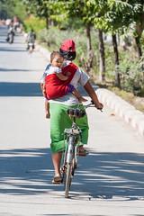 Burmese portraits (SLpixeLS) Tags: myanmar burma birmanie asie royal palace street rue baby bébé portrait bicycle vélo woman femme mother maman child enfant earthasia
