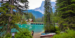 The ideal Spot for a Photo (howard1916 - Just a Lover of Lakes - Any requests?) Tags: emeraldlake canadianrockies canada lake landscape