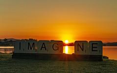 i IMAG_NE (Sterling67) Tags: tascott sunrise water reflections imagne grass outdoor 7d 2470
