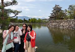 Matsumoto Castle and my favorite women (Big Ben in Japan) Tags: matsumoto yuri japan lin mai matsumotocastle nami