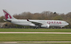 QR A33F A7-AFY 3 (Spenair777) Tags: qatar air cargo a330 a33f freighter freight manchester a7afy flywinglets