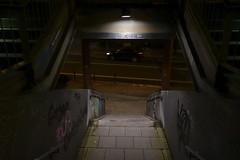 The streets at night (frankdorgathen) Tags: sonyrx100m3 sonyrx100iii ruhrpott ruhrgebiet graffiti nacht nachtaufnahme night nightshot banal mundane strase street downtown innenstadt essen