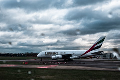 A380 (Marc Bayona Bardaji) Tags: london airport heathrow a340 a380 airbus boeing plane tower wing engine takeoff finger