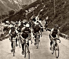 1948 TDF Where mountain men feel at home! (Sallanches 1964) Tags: tourdefrance 1948 mountainstage pyrenees aubisque stanockers ginobartali jeanrobic louisonbobet othertimescycling miroirsprint