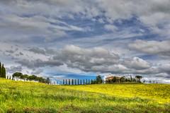 Primavera (giannipiras555) Tags: toscana val dorcia montalcino primavera panorama paesaggio landscape colori nuvole fiori alberi