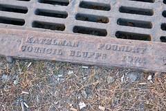 Katelman Foundry, Omaha, NE (Robby Virus) Tags: omaha nebraska ne katelman foundry street metal drain storm cover council bluffs