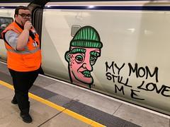 My mom still loves me (rwbthatisme) Tags: street stpancakes train graffiti london railway mom love iphone city public transport