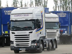 Campeys Of Selby, Scania R450 In Their Depot In Thorpe Willoughby North Yorkshire (Gary Chatterton 6 million Views) Tags: campeysofselby scaniatrucks scaniar450 thorpewilloughby transportdepot trucking truck wagon lorry trailers transport haulage distribution flickr explore canonpowershotsx430 photography