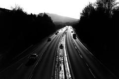 Towards the sun (Leica M6) (stefankamert) Tags: street highway film analog analogue noir noiretblanc car road sun shadows highlights leica m6 leicam6 summicron dr dualrange kodak trix blackandwhite blackwhite stefankamert black lines