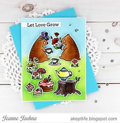 Let Love Grow (akeptlife) Tags: waffleflower waffleflowerstamps teafortwo tea card cardmaking stamping stamp bear flowercircles papercrafting distressink