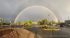 May 17, 2019 - A beautiful double rainbow. (Kristy Lawrence Branson)