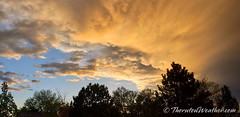 May 17, 2019 - Beautiful sunset clouds. (ThorntonWeather.com)