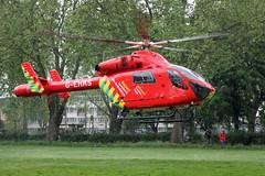 London's Air Ambulance in Harringay (kertappa) Tags: img1976 air ambulance londons london hems doctor paramedics hospital glndn emergency helicopter kertappa ducketts common harringay