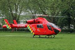 London's Air Ambulance in Harringay (kertappa) Tags: img1943 air ambulance londons london hems doctor paramedics hospital glndn emergency helicopter kertappa ducketts common harringay