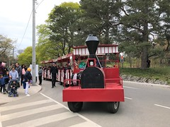 The Trackless train ride is a lot of fun! (Trinimusic2008 -blessings) Tags: trinimusic2008 judymeikle nature today highpark cherryblossoms spring children playground may 2019 inclementweather toronto to ontario canada