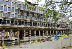 Grosvenor Square`American Embassy Demoilshed (roll the dice) Tags: london site building streetfurniture architecture surreal vanished demolished urbanengland classic uk art rubble changes canon tourism tourists old trump eagle expensive history omen mad windows w1 westend mayfair chancery grade2 listed closed usa bygone luxury posh nineelms fortressamerica sirdavidchipperfield qataridiar