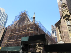 2019 Trinity Chapel Church Rebuilding after 2016 Fire 8579 (Brechtbug) Tags: 2019 trinity chapel complex church ruin from fire 05032016 may 3rd 2016 located flatiron district 15 west 25th street between broadway avenue americas 6th 05182019 constructed 185055 was designed by architect richard upjohn english gothic revival style gutted ruins nyc urban new york city manhattan later named serbian orthodox cathedral st sava saint bust nikola tesla stands outside