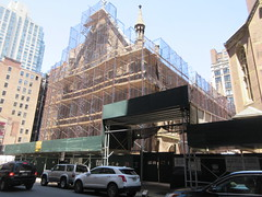2019 Trinity Chapel Church Rebuilding after 2016 Fire 8574 (Brechtbug) Tags: 2019 trinity chapel complex church ruin from fire 05032016 may 3rd 2016 located flatiron district 15 west 25th street between broadway avenue americas 6th 05182019 constructed 185055 was designed by architect richard upjohn english gothic revival style gutted ruins nyc urban new york city manhattan later named serbian orthodox cathedral st sava saint bust nikola tesla stands outside