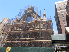 2019 Trinity Chapel Church Rebuilding after 2016 Fire 8567 (Brechtbug) Tags: 2019 trinity chapel complex church ruin from fire 05032016 may 3rd 2016 located flatiron district 15 west 25th street between broadway avenue americas 6th 05182019 constructed 185055 was designed by architect richard upjohn english gothic revival style gutted ruins nyc urban new york city manhattan later named serbian orthodox cathedral st sava saint bust nikola tesla stands outside