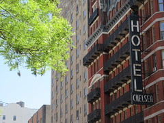 2019 Chelsea Hotel - 222 West 23rd Street NYC 8663 (Brechtbug) Tags: 2019 chelsea hotel reopening month or 222 west 23rd street between 7th 8th avenues nyc 05182019 new york city architecture sign signs built 1884 1885 twelvestory redbrick building that is now was one citys first private apartment cooperatives designed by philip hubert style described queen anne revival victorian gothic features include flower ornamented iron balconies facade grand staircase it tallest