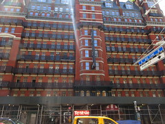 2019 Chelsea Hotel - 222 West 23rd Street NYC 8644 (Brechtbug) Tags: 2019 chelsea hotel reopening month or 222 west 23rd street between 7th 8th avenues nyc 05182019 new york city architecture sign signs built 1884 1885 twelvestory redbrick building that is now was one citys first private apartment cooperatives designed by philip hubert style described queen anne revival victorian gothic features include flower ornamented iron balconies facade grand staircase it tallest