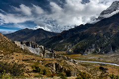 Annapurna III (7.555m), IV (7.525m) & II  (7,937m) (YogiMik) Tags: annapurna range nepal himalaya yogi mik mountains monsoon clouds travel trekking