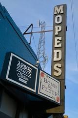 Mopeds, Omaha, NE (Robby Virus) Tags: omaha nebraska ne mopeds bomb fleur arbor street studios sign signage