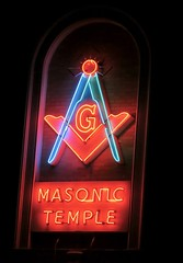 Masonic Temple, Omaha, NE (Robby Virus) Tags: omaha nebraska ne mason masonic freemasons temple lodge fraternal organization sign signage neon