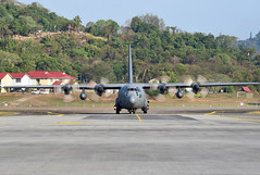 Royal Malaysian Air Force Lockheed C-130H-30 Hercules M30-16 (EK056) Tags: royal malaysian air force lockheed c130h30 hercules m3016 lima 19 langkawi international airport