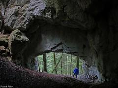 Daniel dans la Grotte de la Grande Cheminée - CHaux les Crotenay - Jura (francky25) Tags: daniel dans la grotte de grande cheminée chaux les crotenay jura franchecomté karst ngc